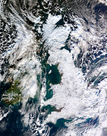 Image of Snow covering the UK